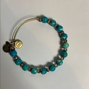 Alex and Ani turquoise beaded bracelet